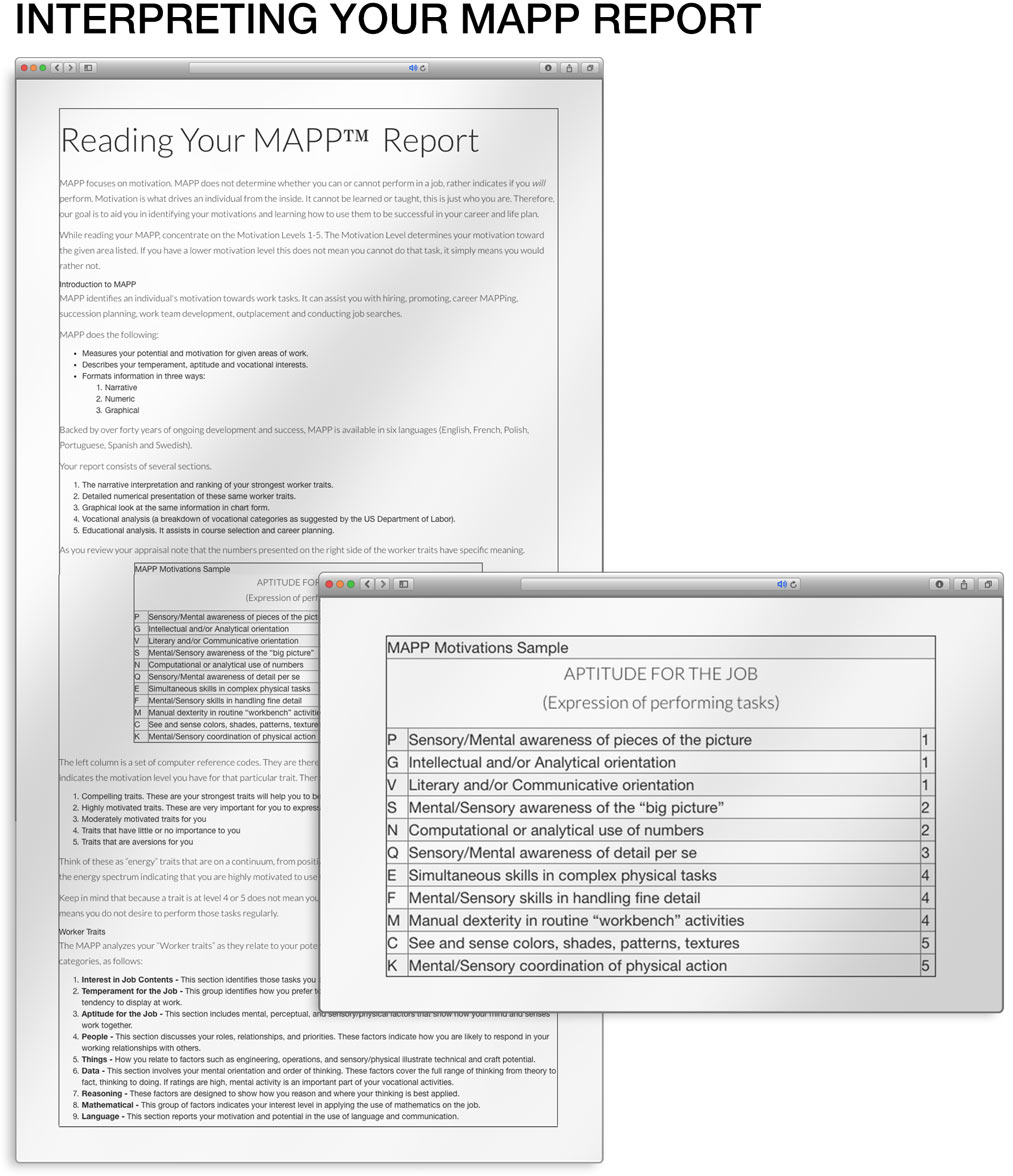 information about the mapp com interpreting your mapp report